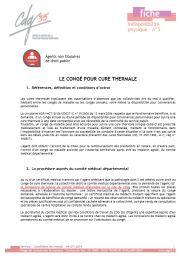 Non titulaires - Fiche n° 5 : Le congé pour cure thermale